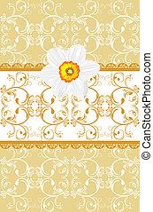 орнаментальный, бледно-желтый, задний план