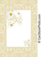 орнаментальный, рамка, daffodils