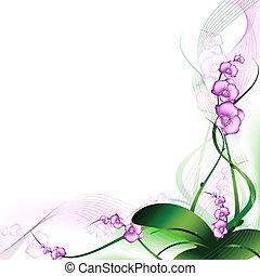 орхидея, пурпурный