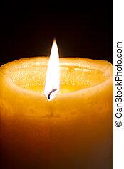 освещенный, свеча