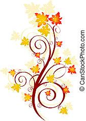 осень, водоворот
