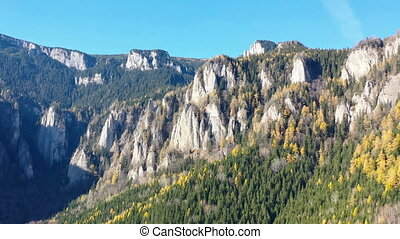 осень, гора, антенна, скалистый, посмотреть