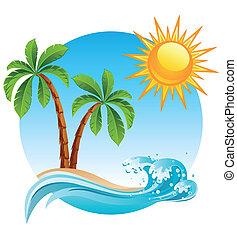 остров, тропический