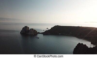 остров, shamanka, трутень, olkhon, озеро, baikal., лето