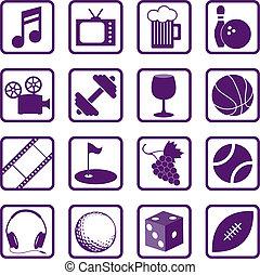 отдых, icons