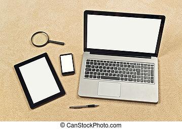 отзывчивый, web, дизайн, фон