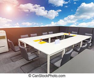 открытый, офис, воздух