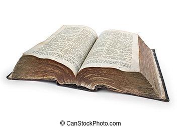 очень, старый, библия