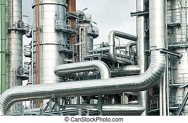 очистительный завод, масло