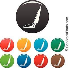 очиститель, задавать, icons, цвет, гостиница, вакуум