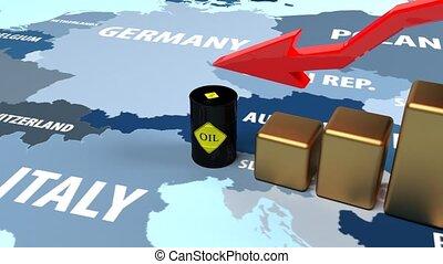 , падение, в, масло, prices., отказ, of, oil., масло, has,...