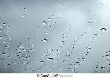 падение, дождь