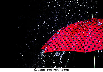 падение, зонтик, isolated, дождь