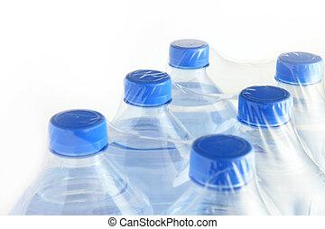 пакет, of, bottles, воды