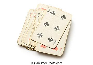 пакет, of, cards, на, , белый, задний план