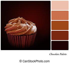 палитра, шоколад