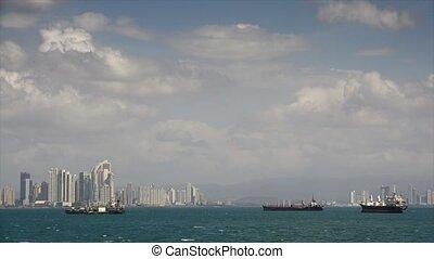 панама, город, центральный, америка