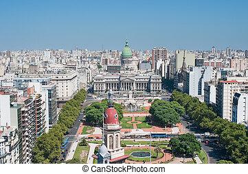 панорама, aires, аргентина, buenos