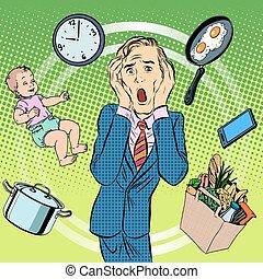 папа, chores, домашнее хозяйство, человек