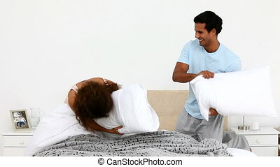 пара, подушка, борьба