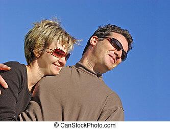 пара, счастливый
