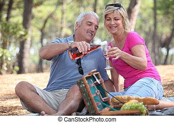 пара, having, , пикник