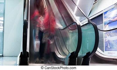 пара, of, escalators, в, , здание