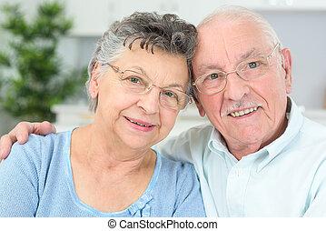 пара, posing, пожилой