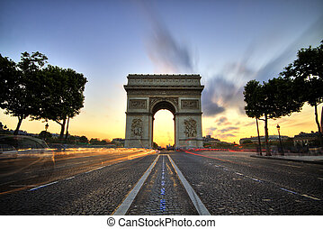 париж, de, дуга, triomphe