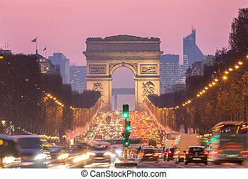 париж, triomphe, дуга