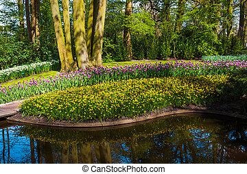 парк, time., весна, задний план