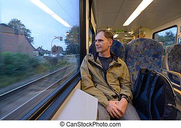 пассажир, поезд