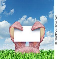пасха, кролик, знак