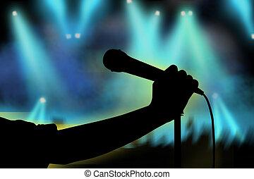 певец, рука