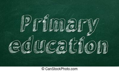 первичная, образование