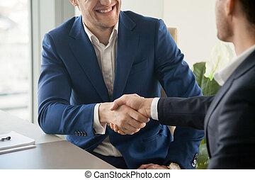 переговоры, бизнесмен, shaking, партнер, рука
