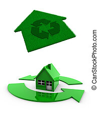 перерабатывать, дом