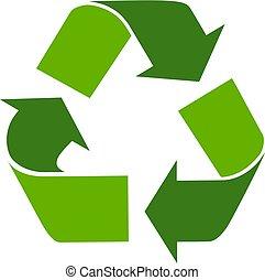 перерабатывать, eco, символ