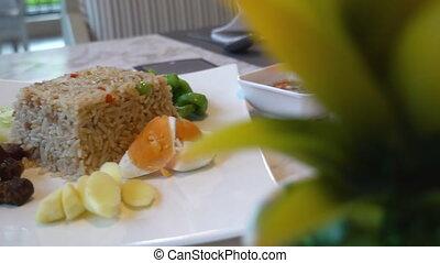 перец чили, жареные, vegetable., тайский, рис, вставить