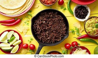 перец чили, мясо, ingredients, свежий, вкусно, железо,...