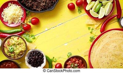 перец чили, ingredients, подготовленный, carne, ожидание,...