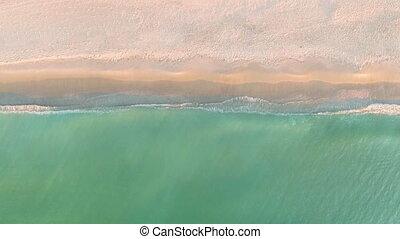 песок, тропический, посмотреть, пляж, waves, ломать,...