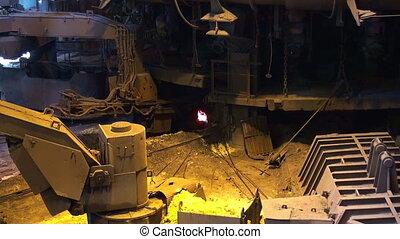 печь, взрыв, производство, обработать