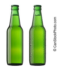 пиво, bottles, два