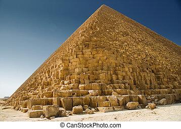 пирамида, в, гиза
