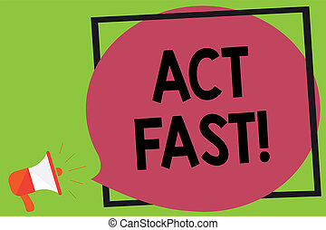 письмо, заметка, показ, акт, fast., бизнес, фото, showcasing, добровольно, переехать, в, , наибольший, государство, of, скорость, initiatively, мегафон, громкоговоритель, громкий, кричащий, идея, говорить, рамка, речь, bubble.