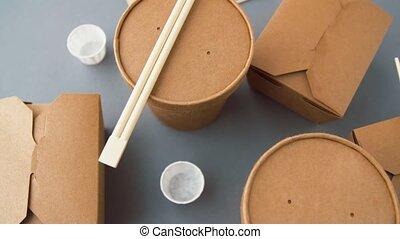 питание, бумага, одноразовый, containers, навынос