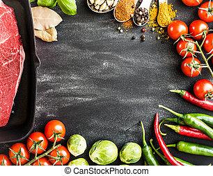 питание, задний план