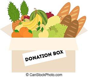 питание, пожертвование, box.