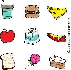 питание, icons